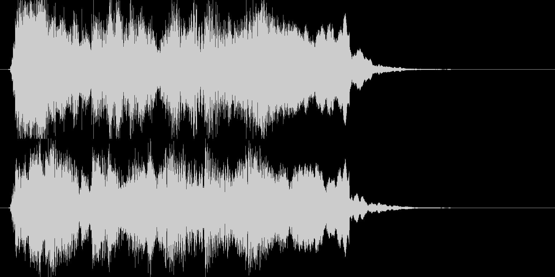 ブルース調ゲームオーバージングルの未再生の波形