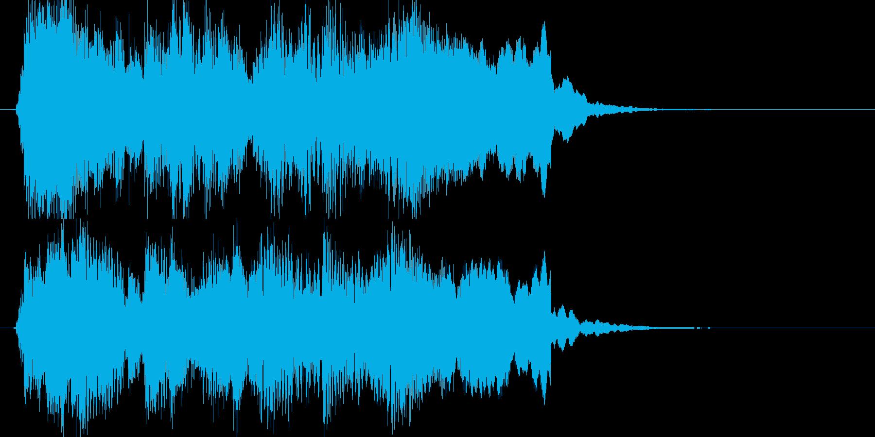ブルース調ゲームオーバージングルの再生済みの波形