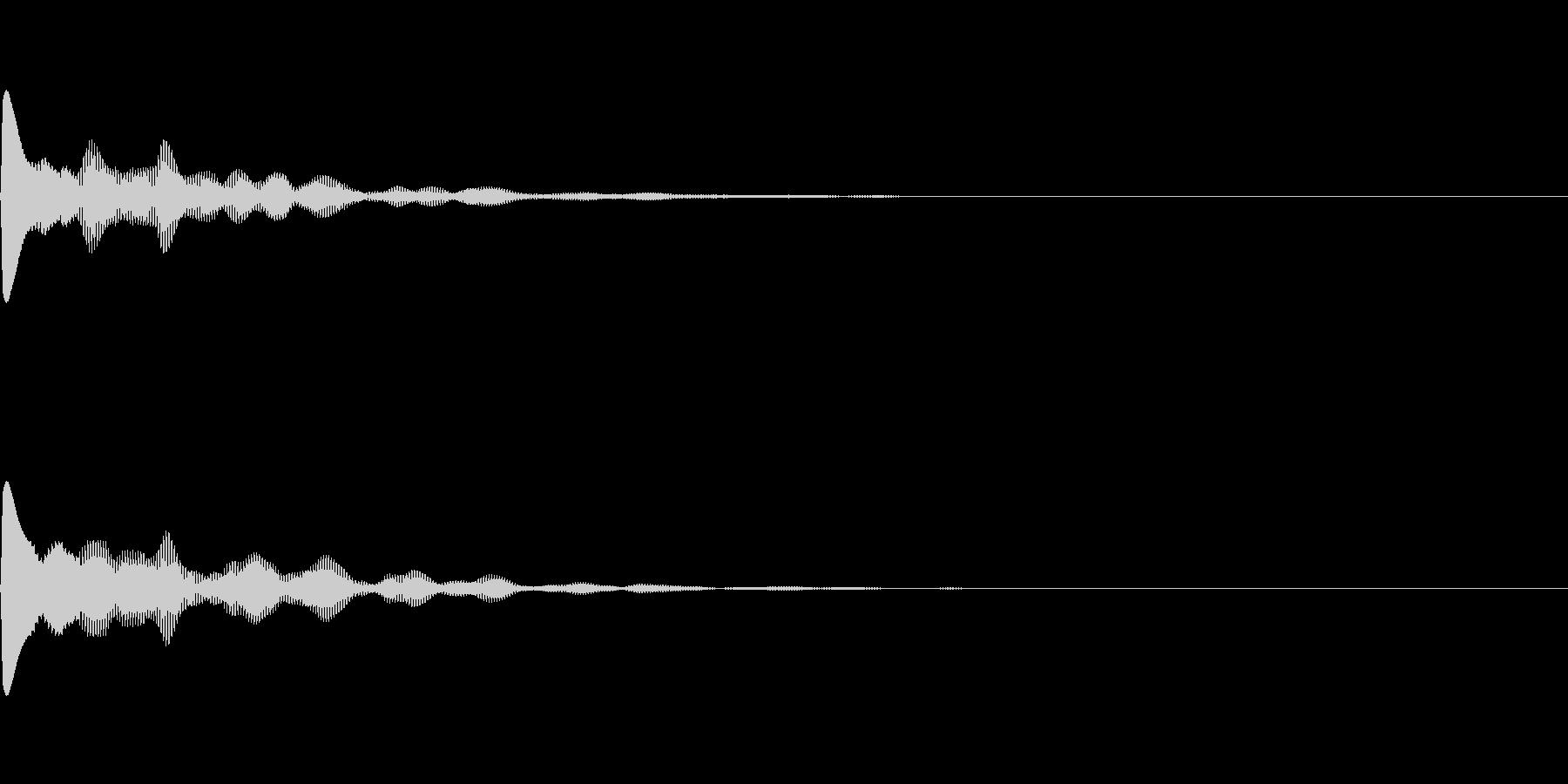 ポカーンとファンタジーなボタン音の未再生の波形