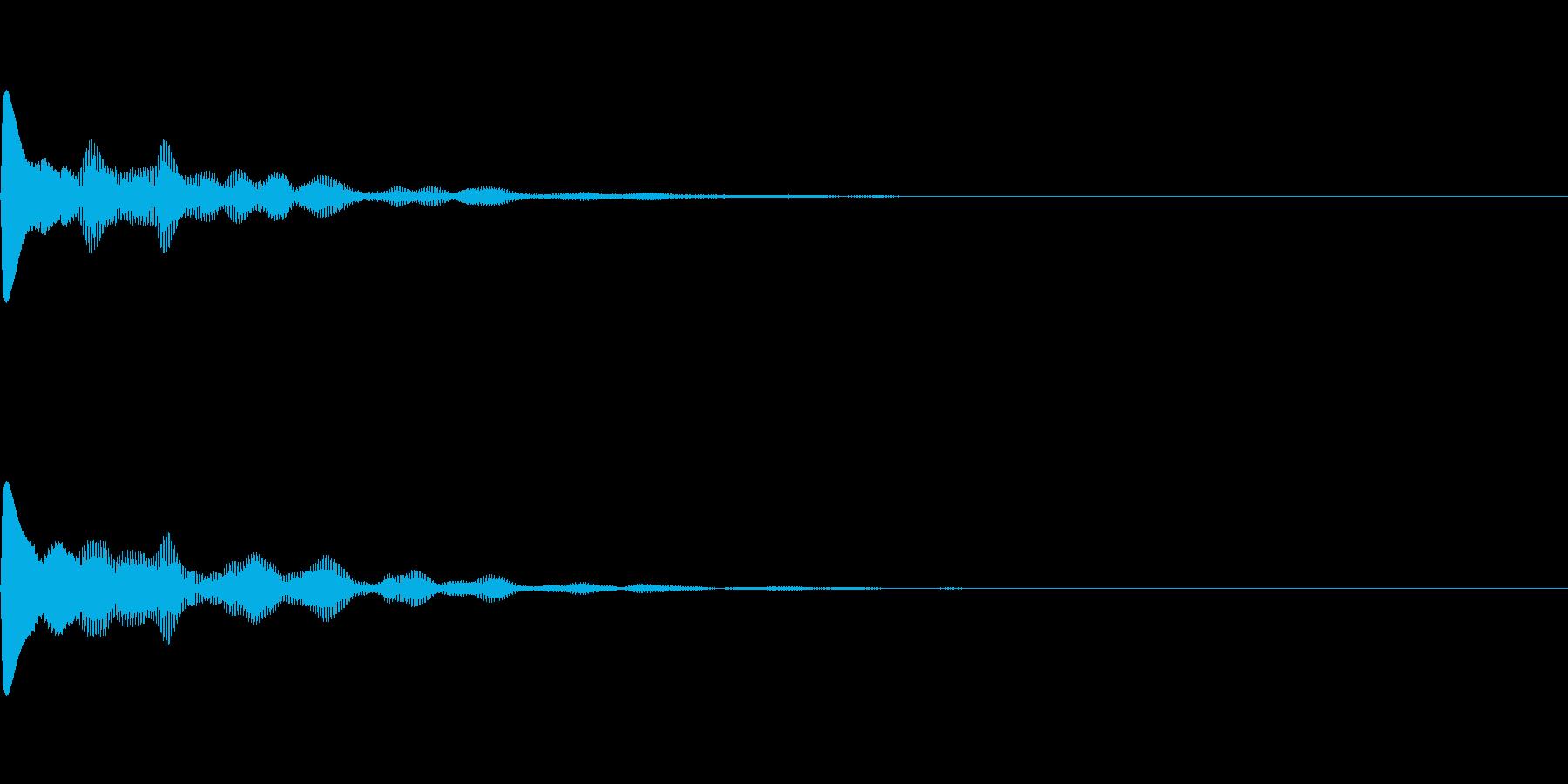ポカーンとファンタジーなボタン音の再生済みの波形