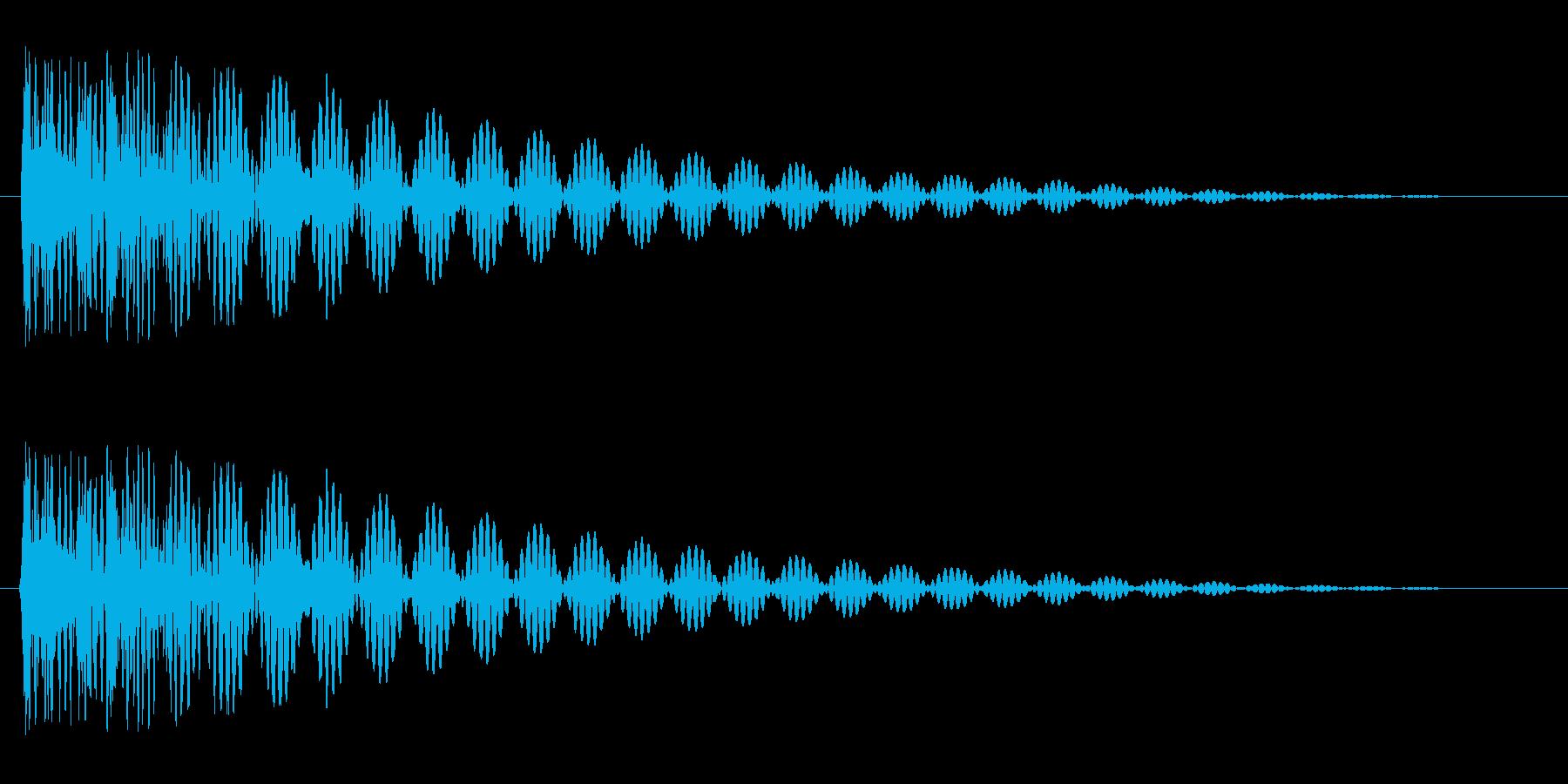 ドドン(太鼓を叩いたときの音)の再生済みの波形