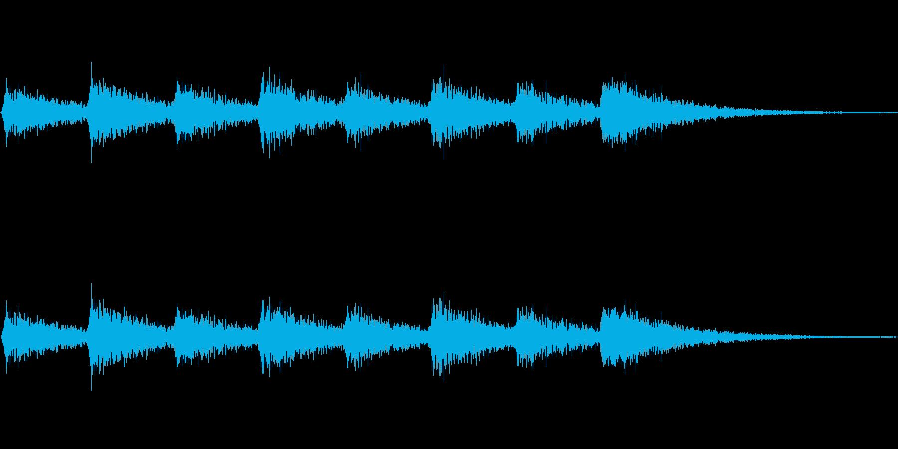 息づかい(ミディアムスピード)の再生済みの波形