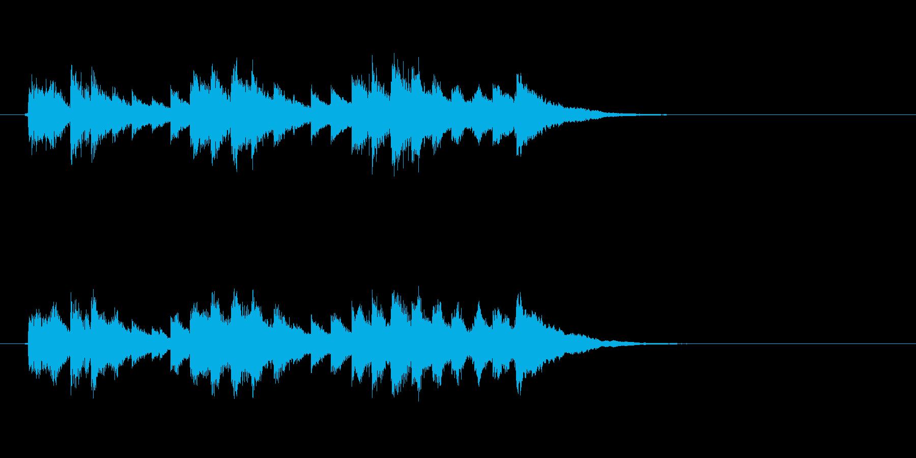 ジングル(かわいい感じ)の再生済みの波形