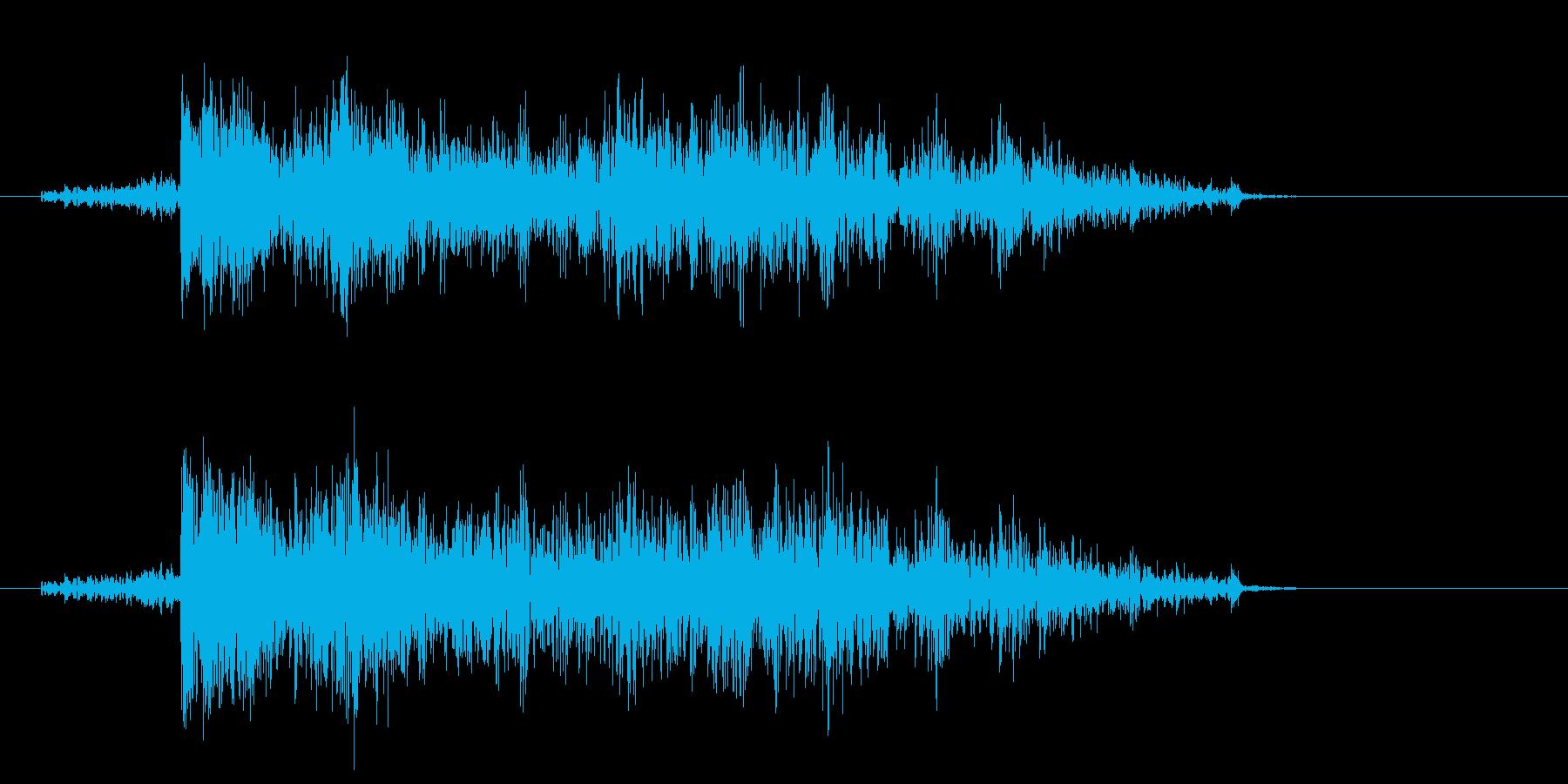雷(落雷)の再生済みの波形