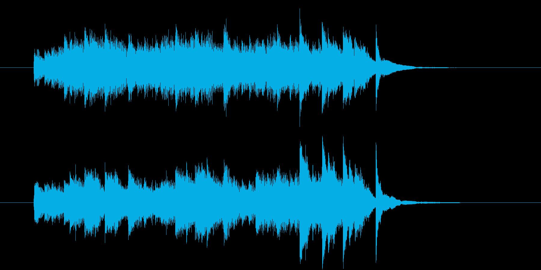 「ひらめきBGM」の再生済みの波形