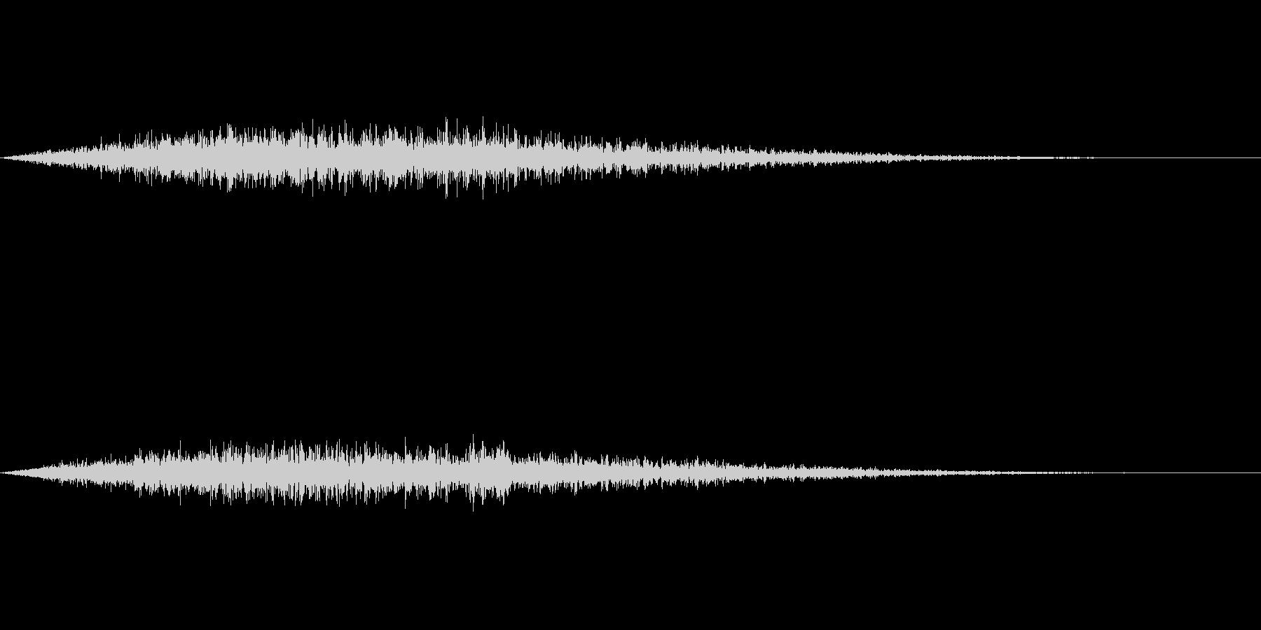 フワーン(タイトルメニューから各項目)の未再生の波形