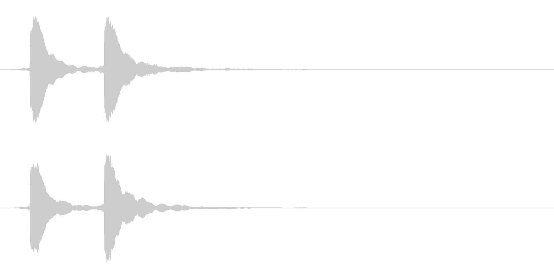 クイズ正解音(ピンポン)5の未再生の波形