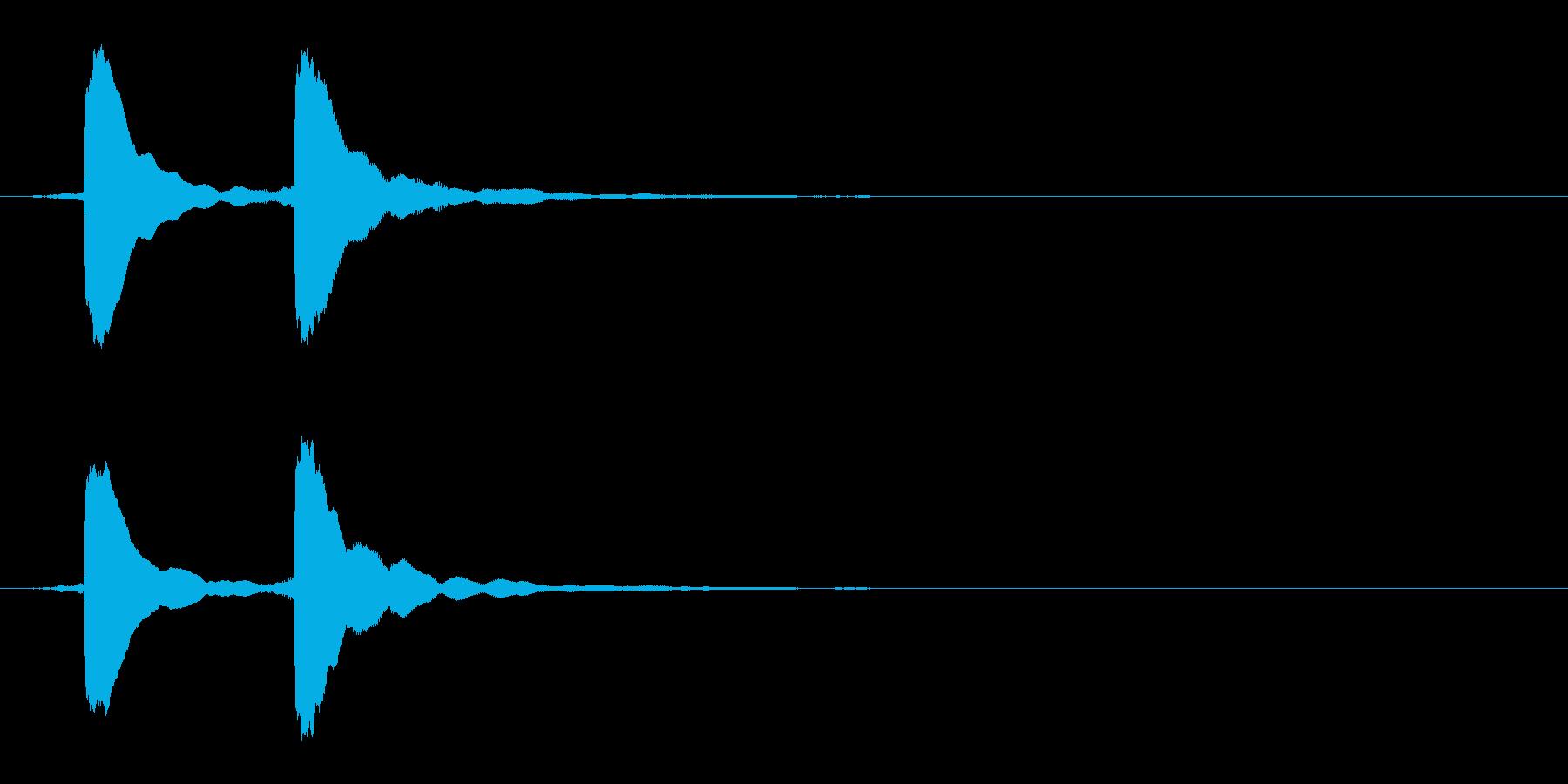 クイズ正解音(ピンポン)5の再生済みの波形