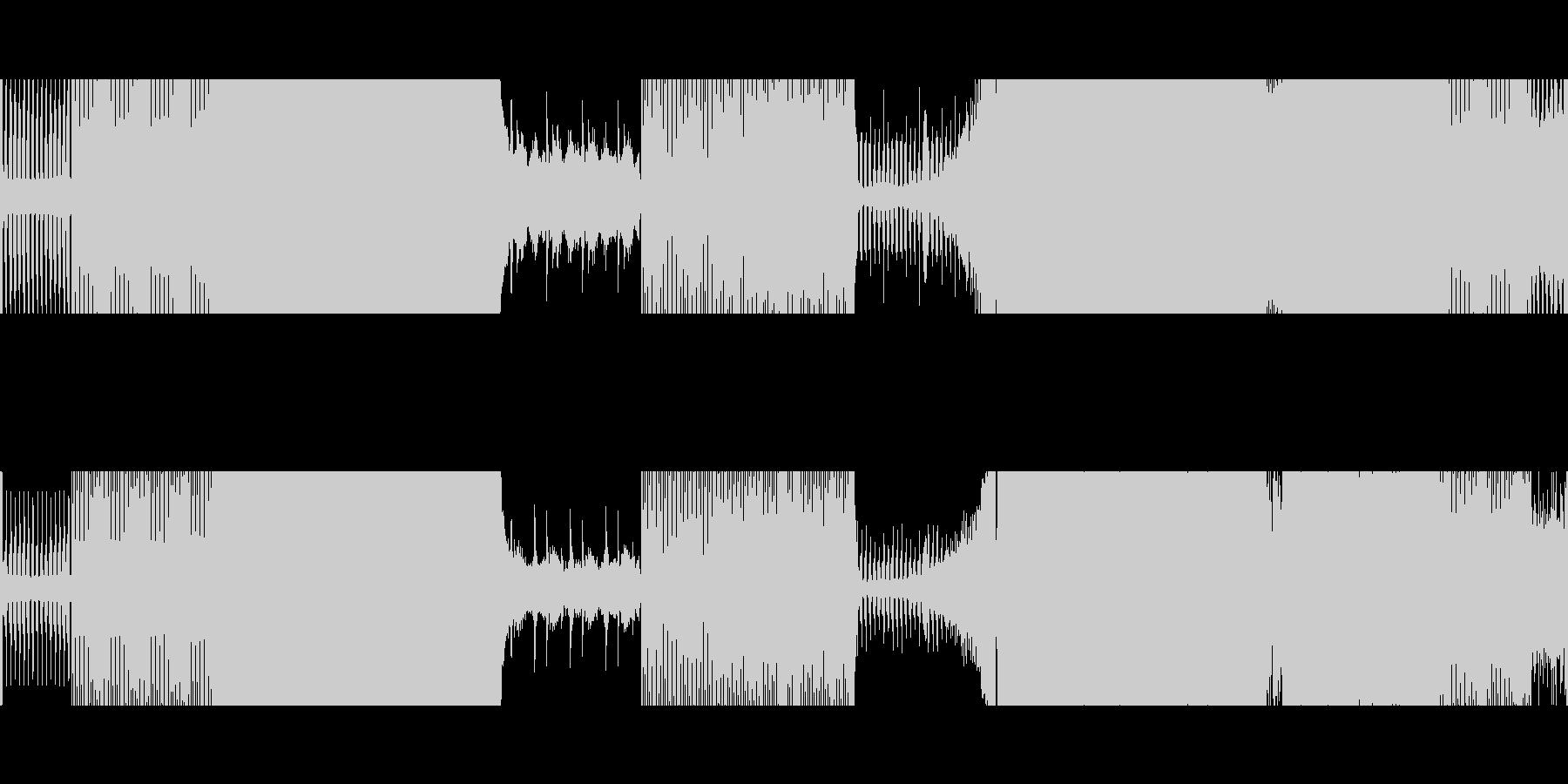 ゲーム/映像:四つ打ち〜テクノハウスの未再生の波形