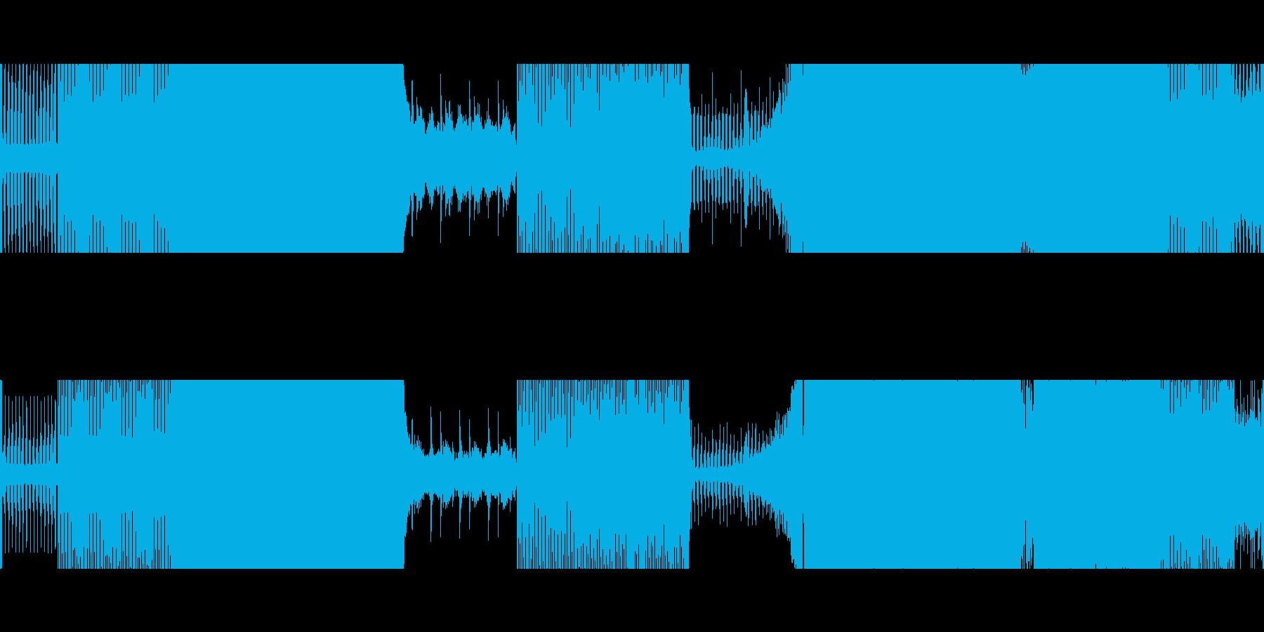 ゲーム/映像:四つ打ち〜テクノハウスの再生済みの波形
