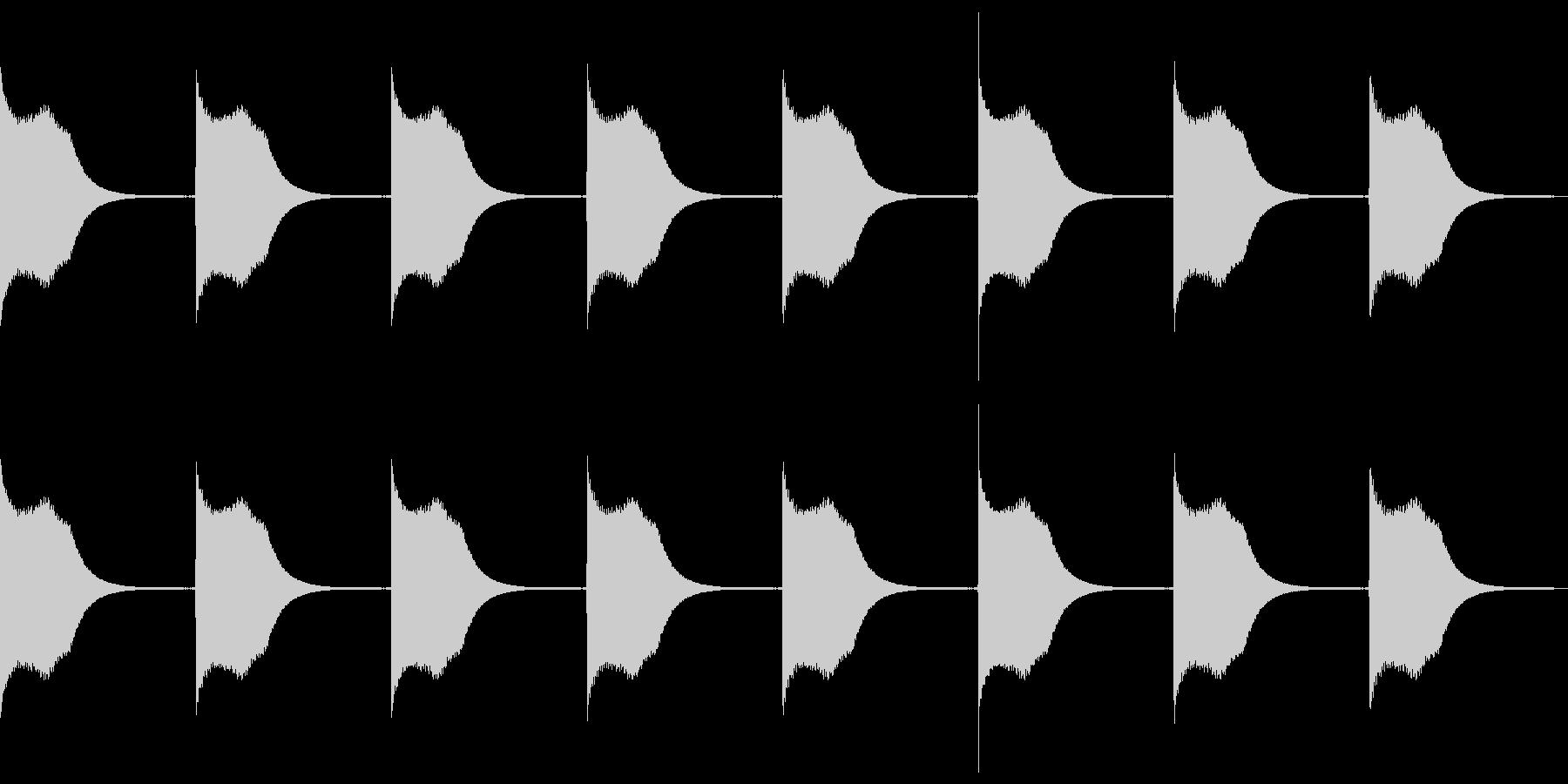 比較的小型の戦艦アラートの未再生の波形