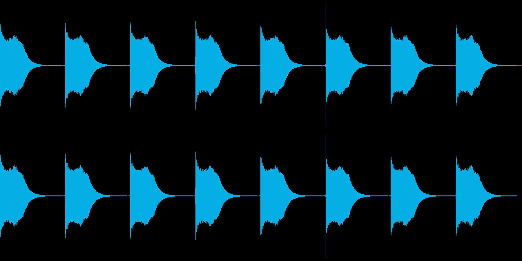 比較的小型の戦艦アラートの再生済みの波形
