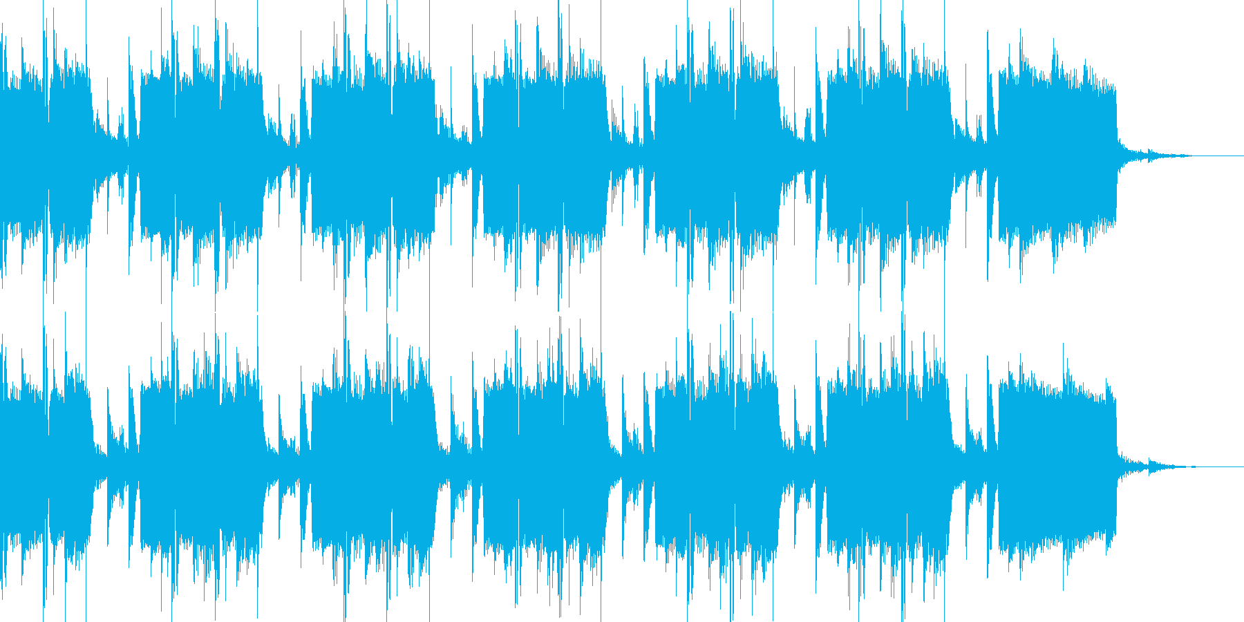 オープニングのBGMの再生済みの波形