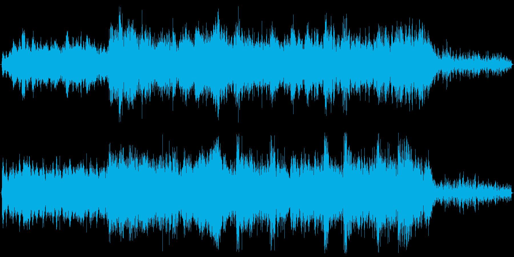 映画音楽風な迫力のあるBGMの再生済みの波形