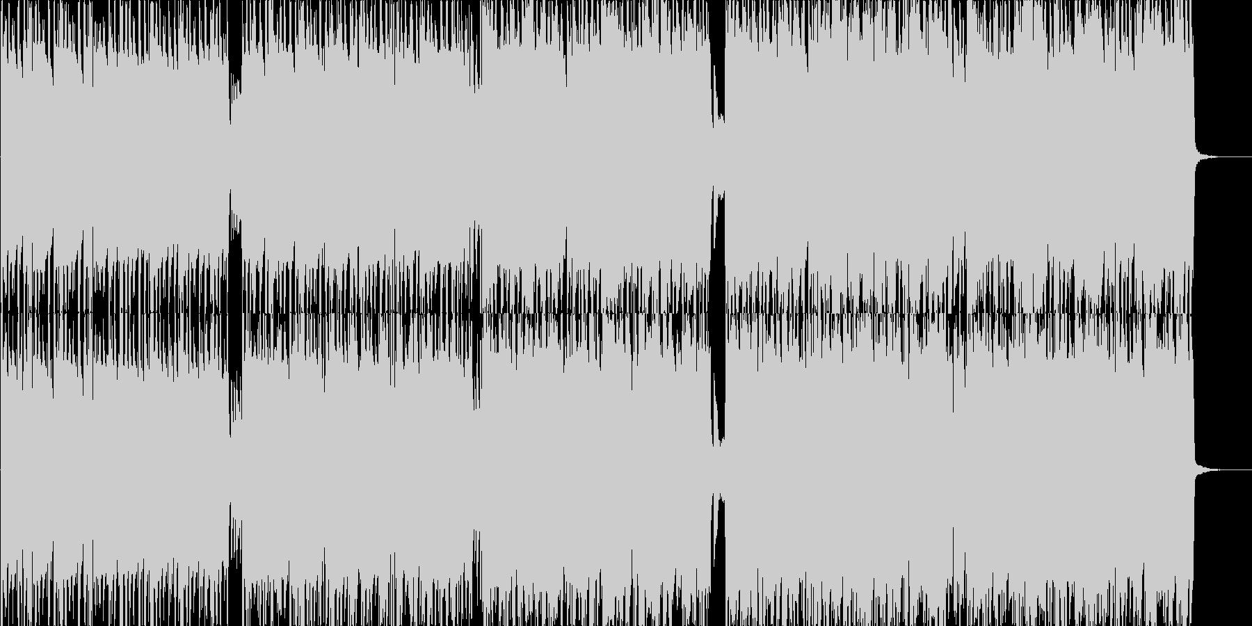 少し緊張感のあるループにピアノサウンドの未再生の波形