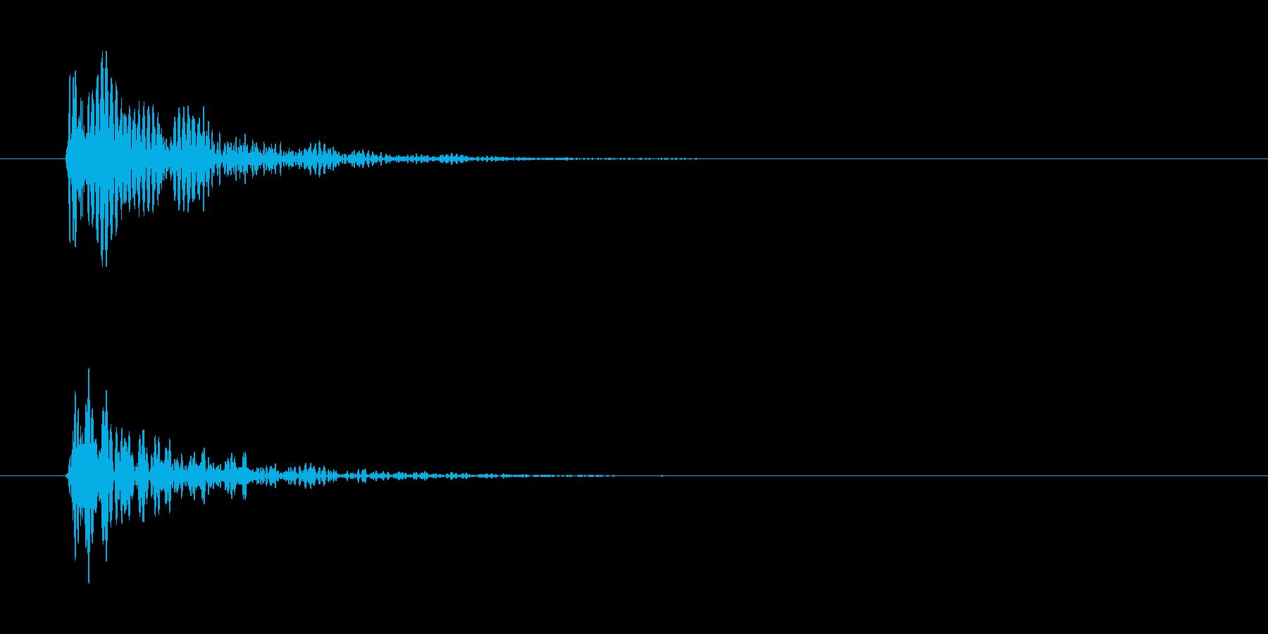 ドン(金属っぽい)の再生済みの波形