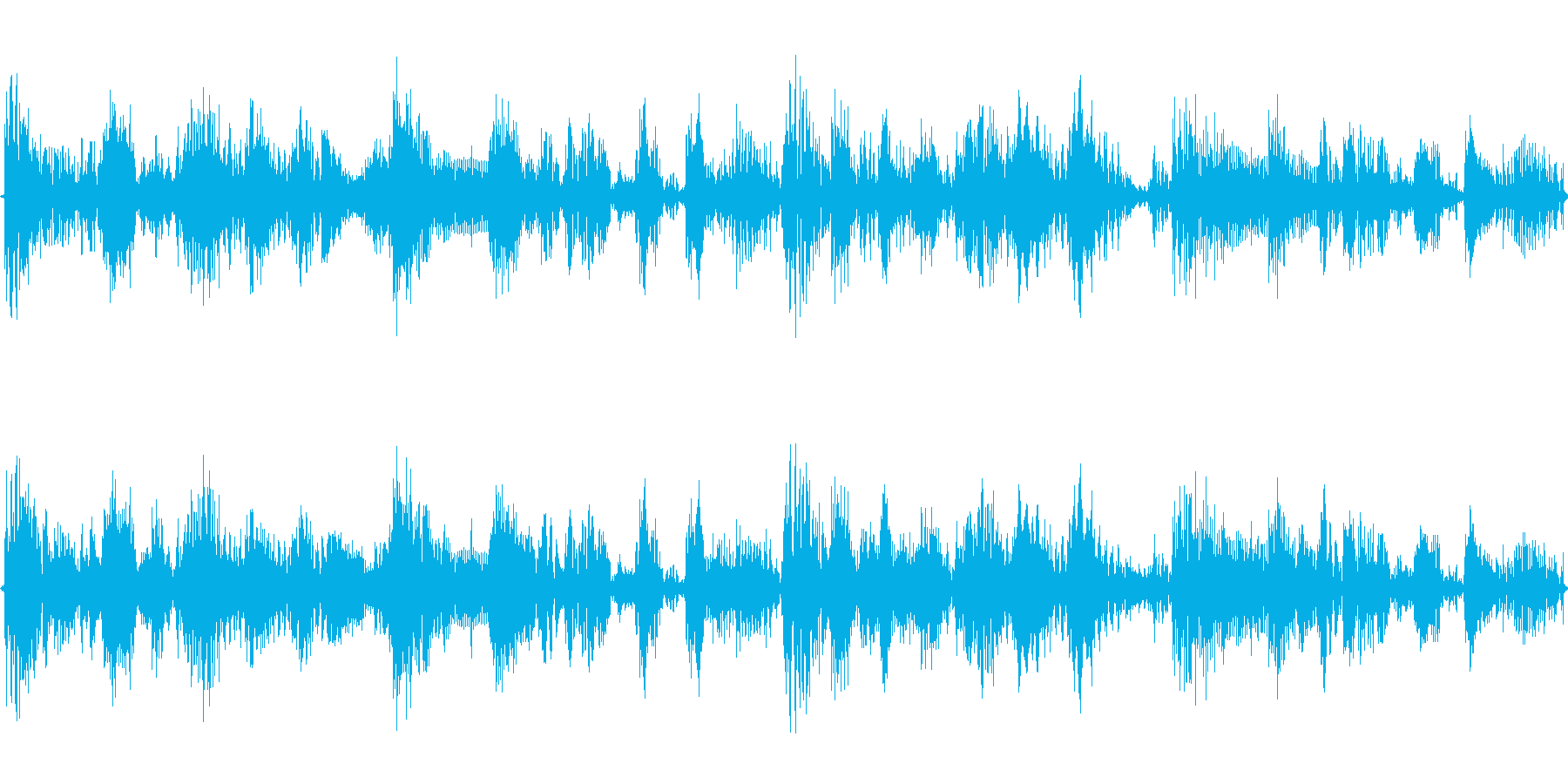 BGMとして何にでもつかえるループの再生済みの波形