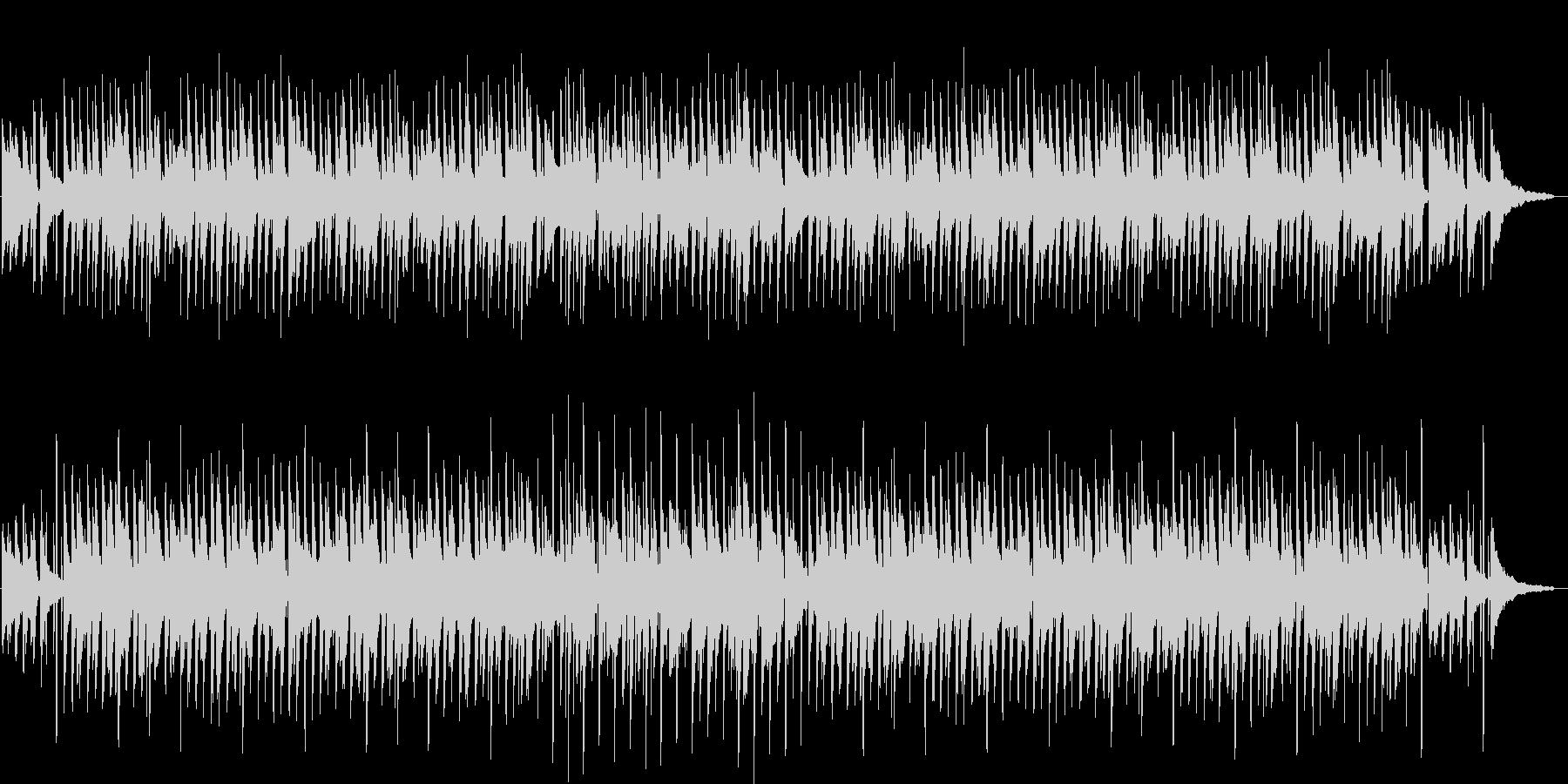 ハッピーで穏やかなアコースティックBGMの未再生の波形