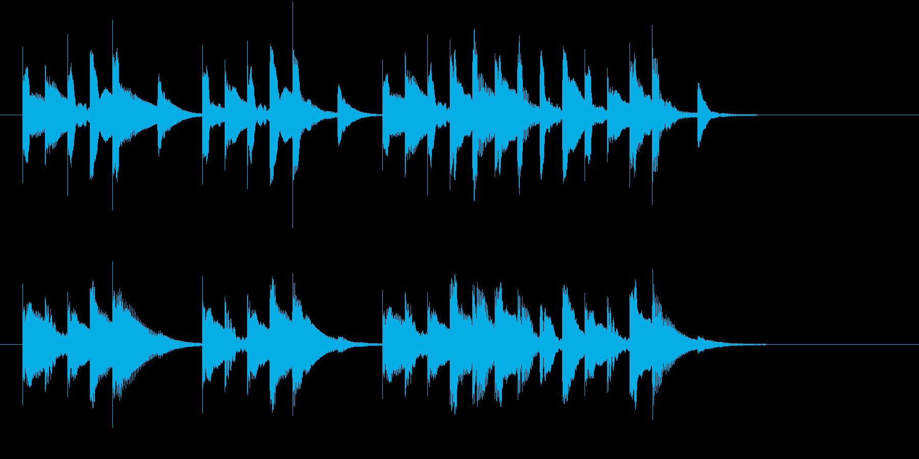 シンキングタイムに使えそうな短いジングルの再生済みの波形
