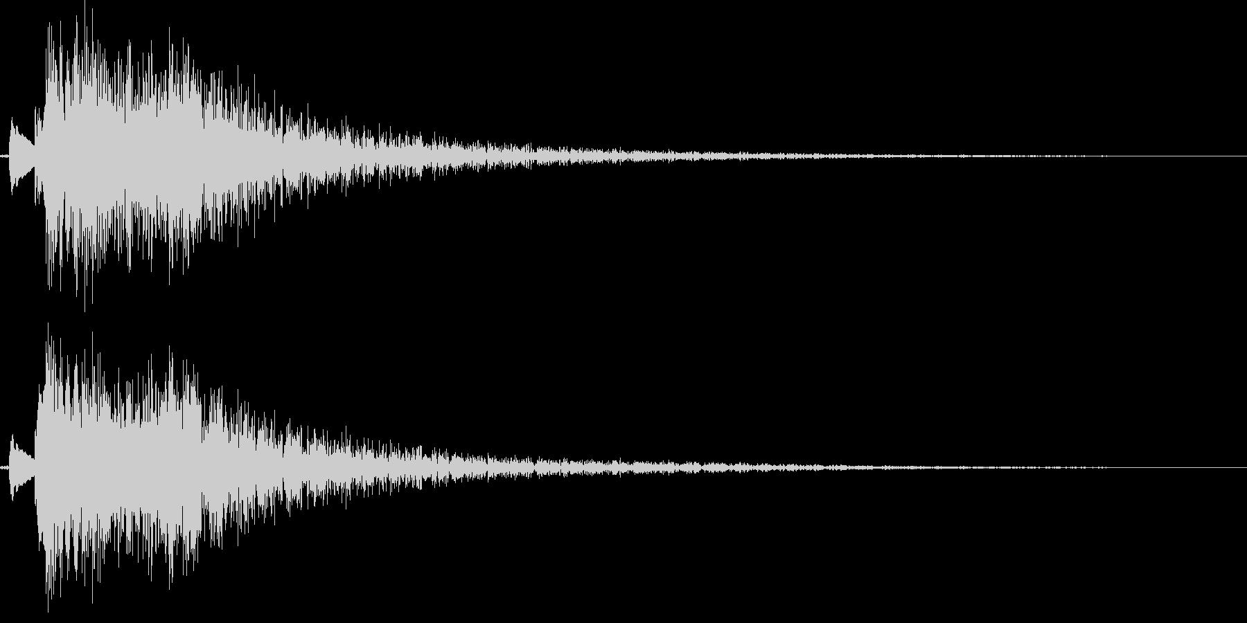 和風演出(琴の生演奏)の未再生の波形