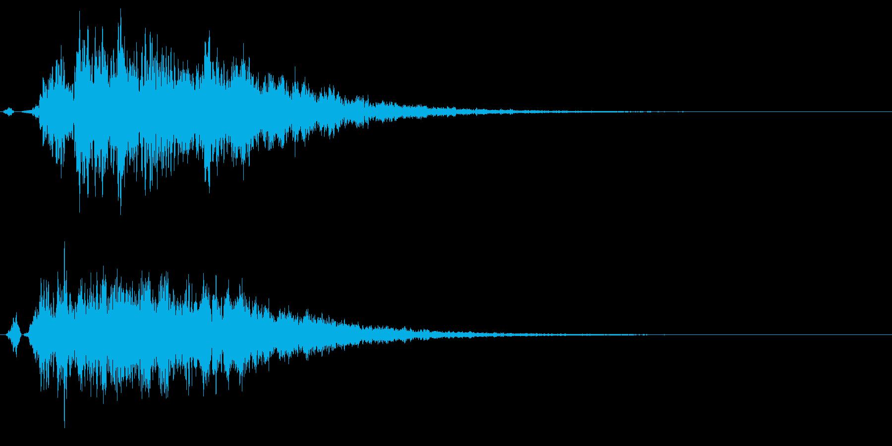霊の気配 奇怪な音 恐怖演出 怖い音の再生済みの波形