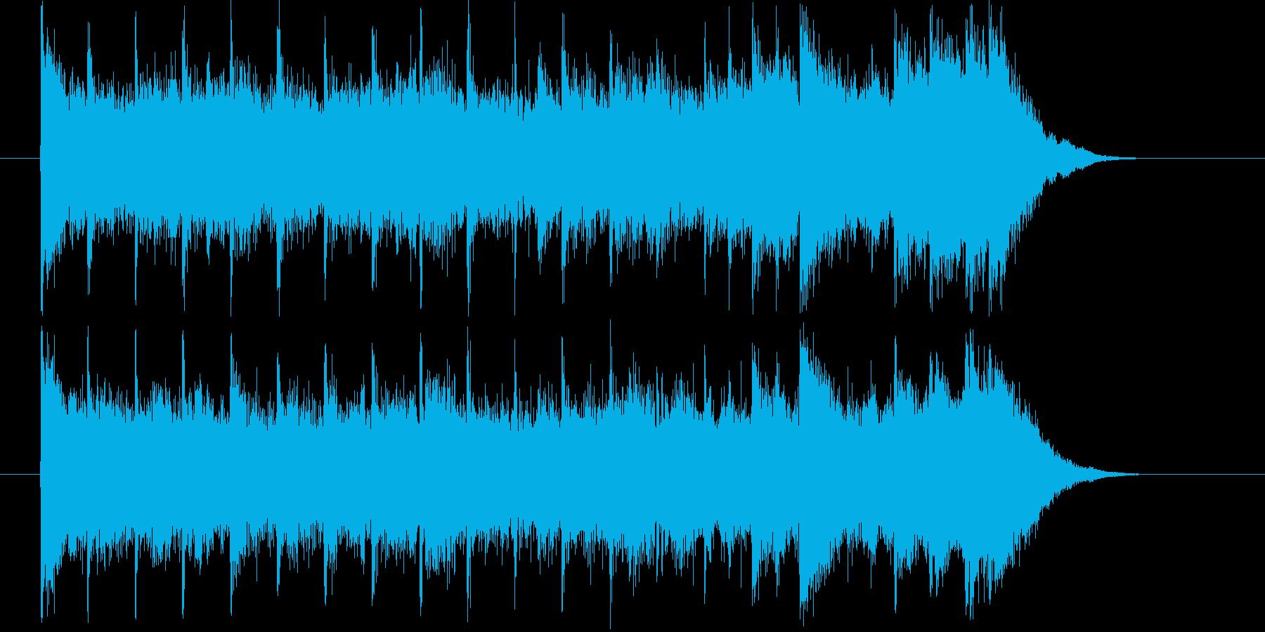 ドラマチックで明るいシンセミュージックの再生済みの波形