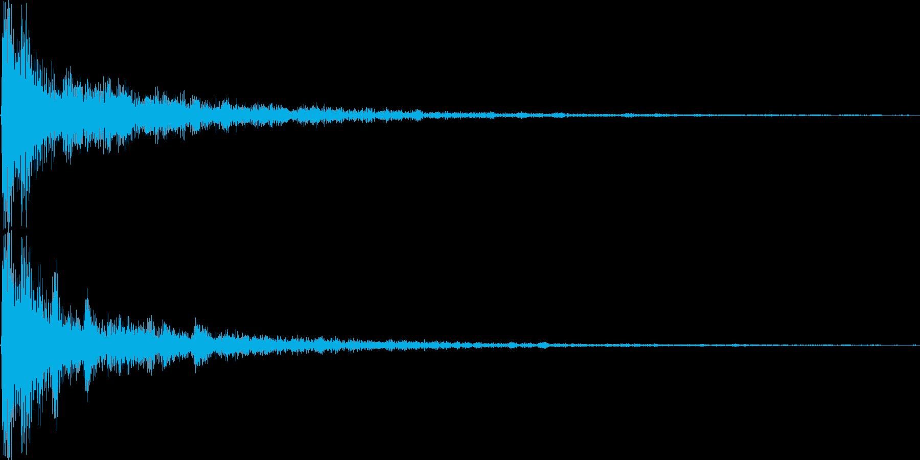ダァァン。ショック・衝撃を受けた音(高)の再生済みの波形