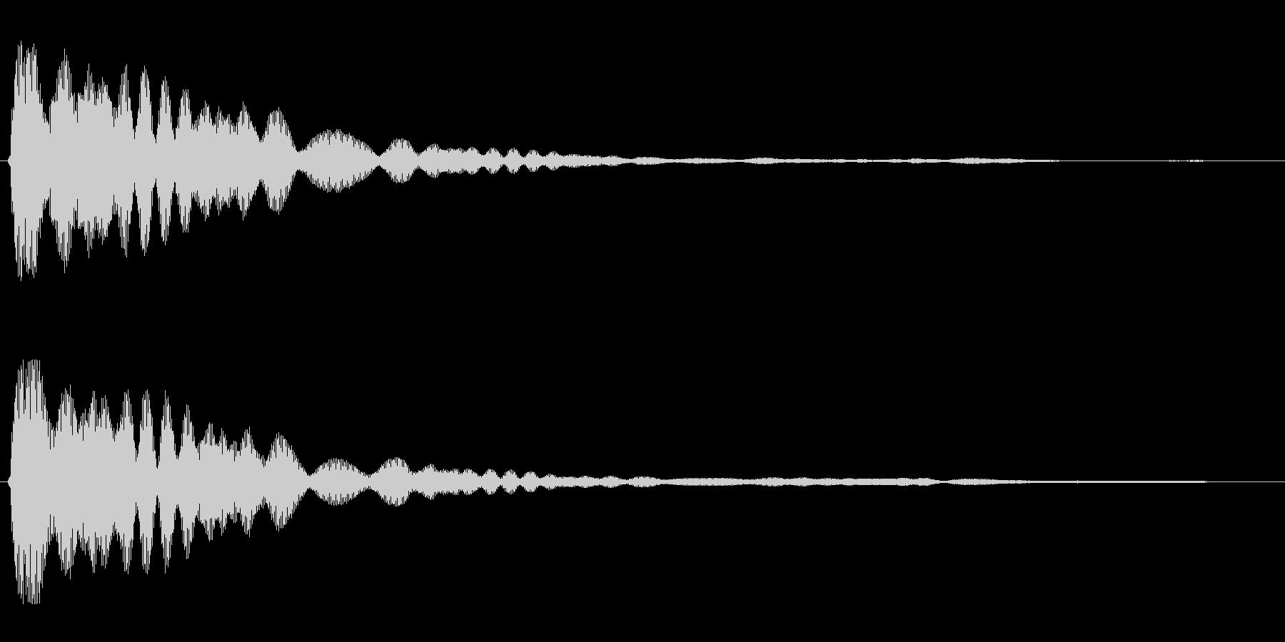 キーン(高い決定音)の未再生の波形