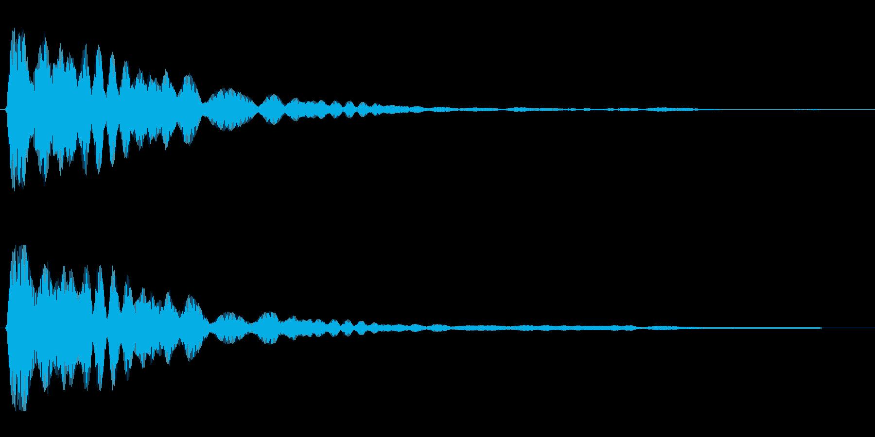 キーン(高い決定音)の再生済みの波形