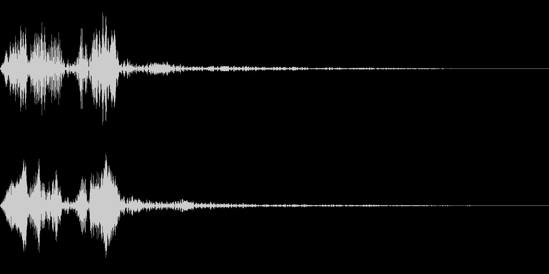 ピョコという音です。ボタンなどにの未再生の波形