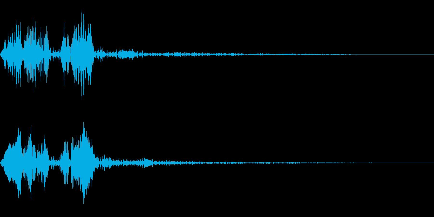 ピョコという音です。ボタンなどにの再生済みの波形