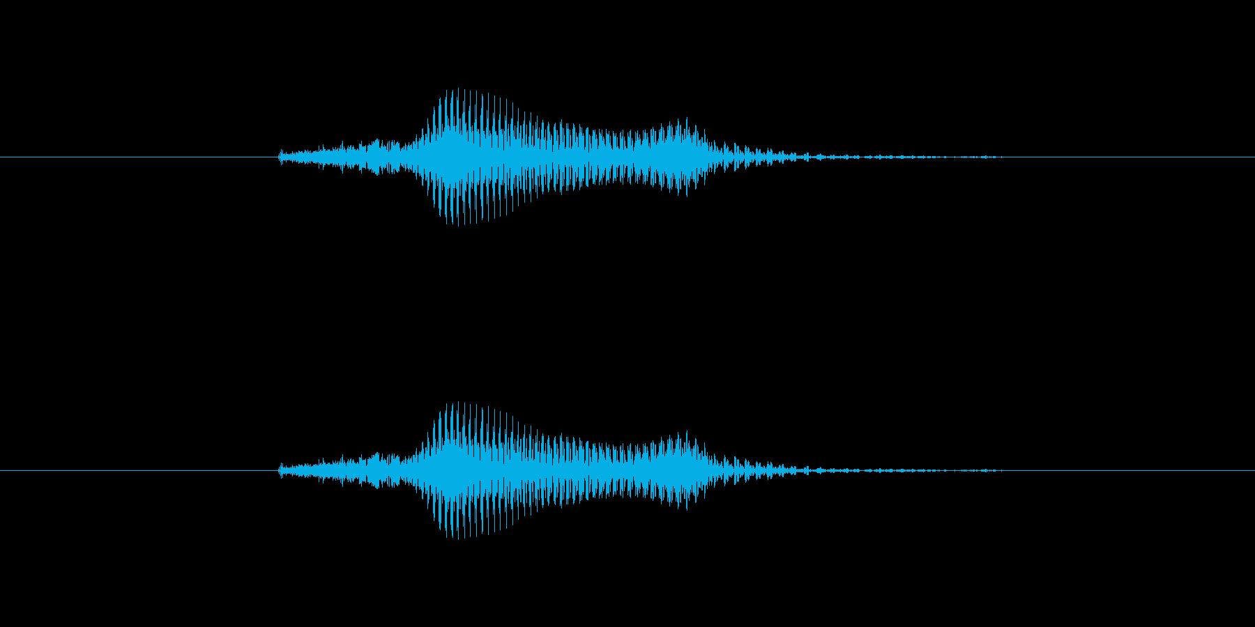 【数字】9(きゅう)の再生済みの波形