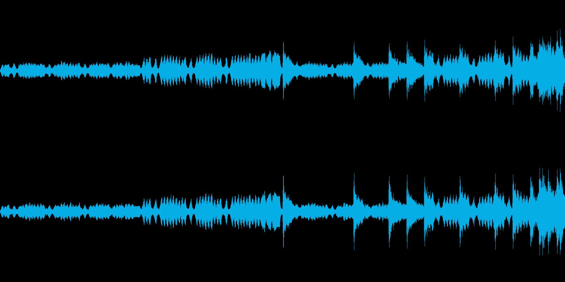 映像、ゲーム、CM(ケルト風)の再生済みの波形