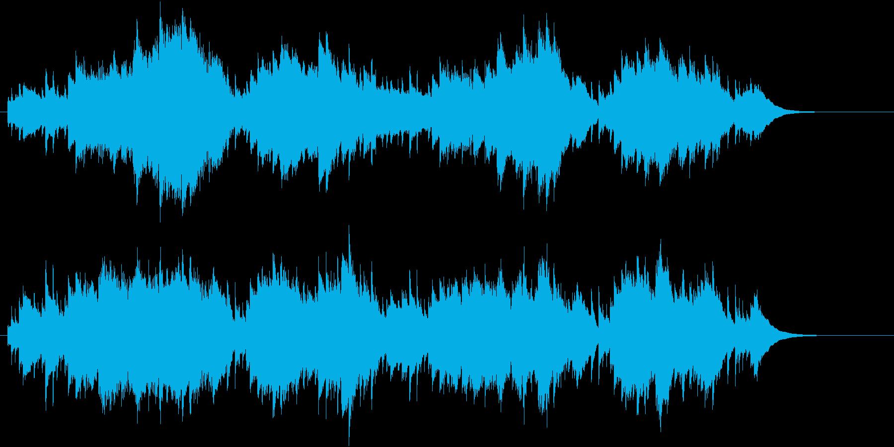 感動的なオルゴール曲の再生済みの波形