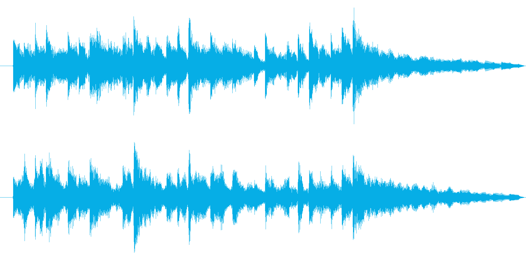 番組内コーナー冒頭ジングル2の再生済みの波形