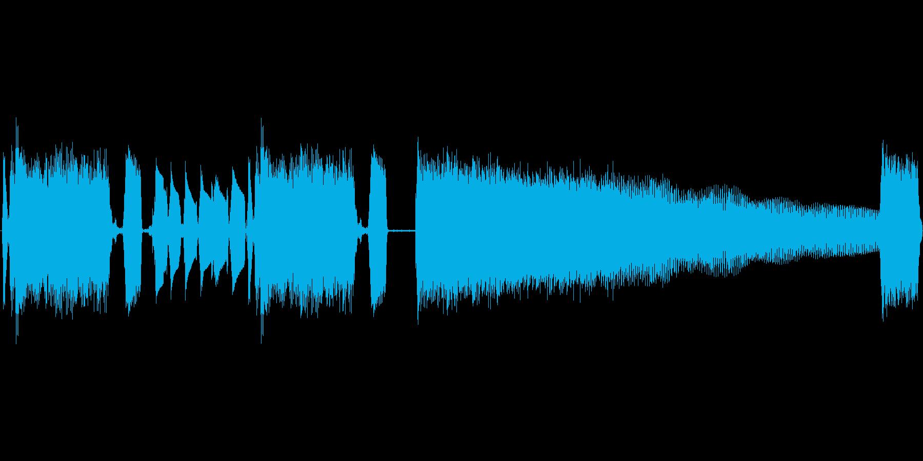 エレキギターのロックジングルの再生済みの波形