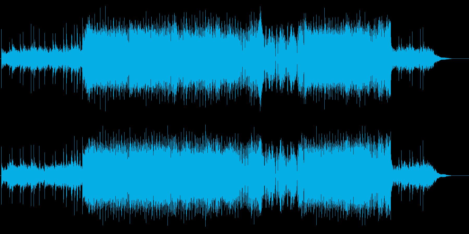 トランス調のクールな曲の再生済みの波形