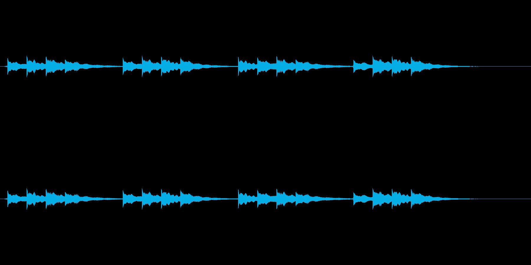 学校のチャイムの再生済みの波形
