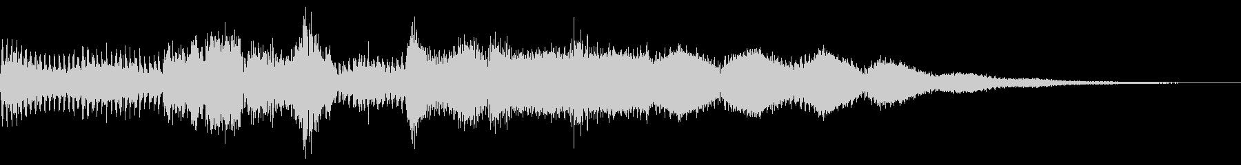 サウンドロゴ、ジングル(テクノ風)の未再生の波形