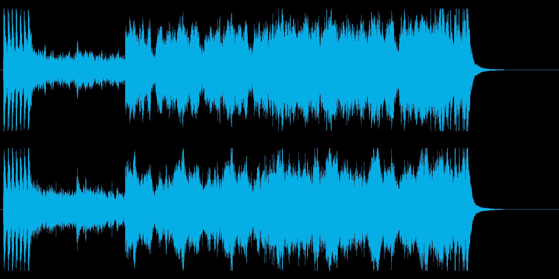 恐怖や不安をもたらすファンタジーBGMの再生済みの波形