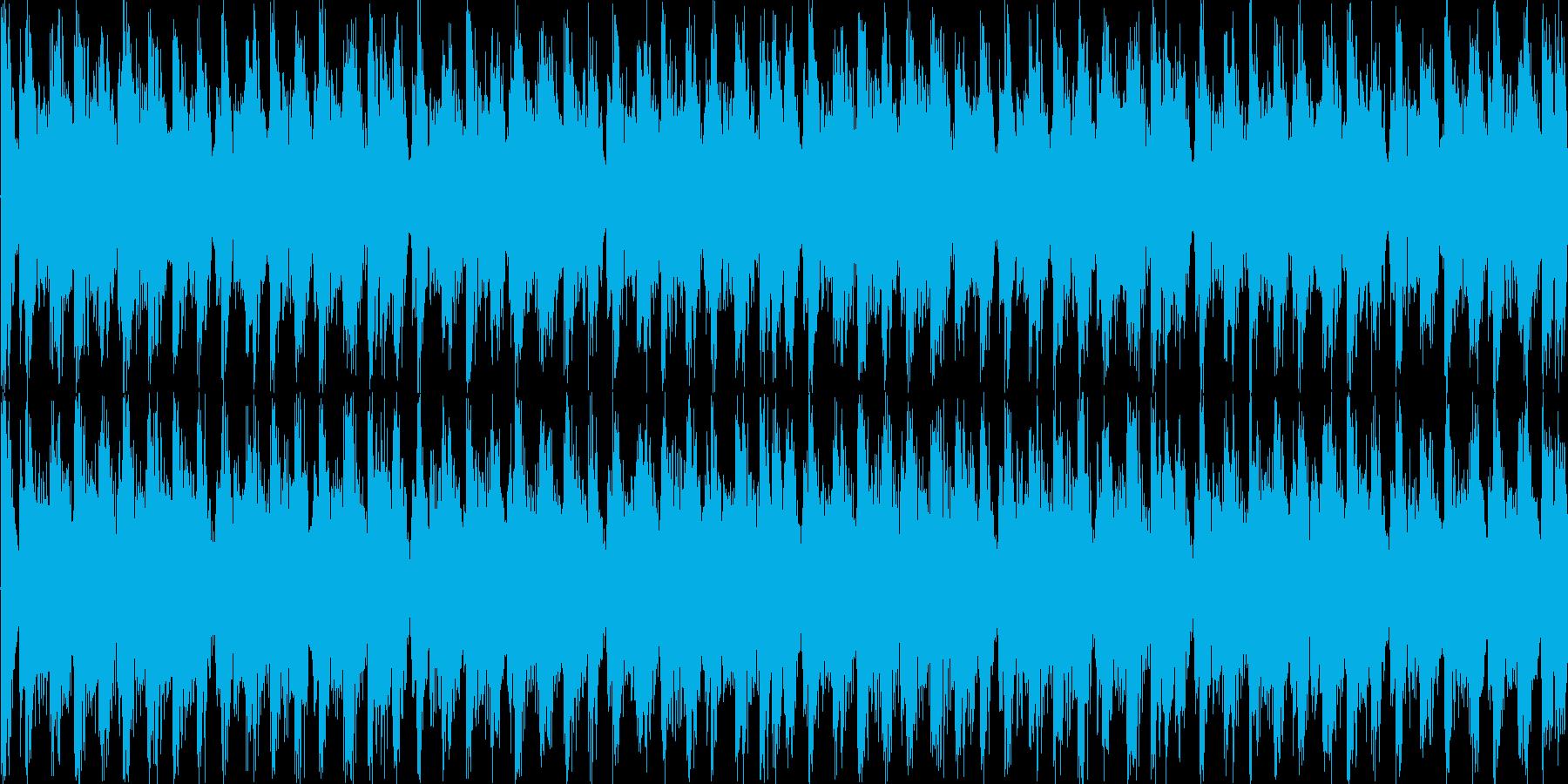 スタイリッシュで不穏な曲 ループ処理1の再生済みの波形