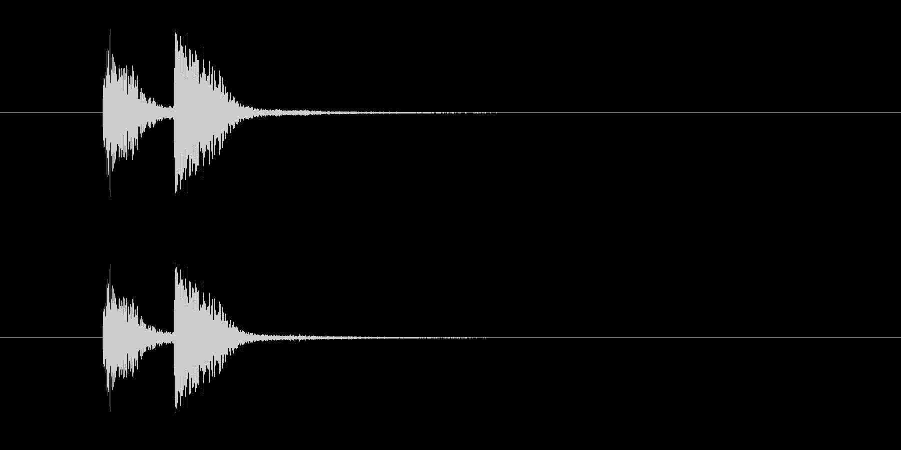 ズッチャン(オルガン等のお知らせ音)の未再生の波形