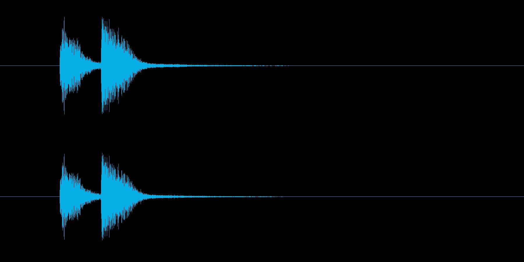 ズッチャン(オルガン等のお知らせ音)の再生済みの波形