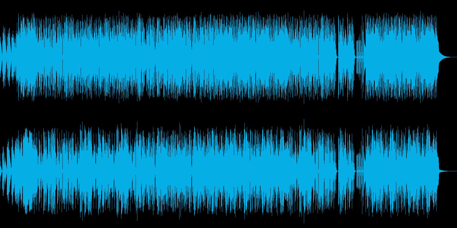 特に凹凸もなく物事が順調に進んでいく様子の再生済みの波形