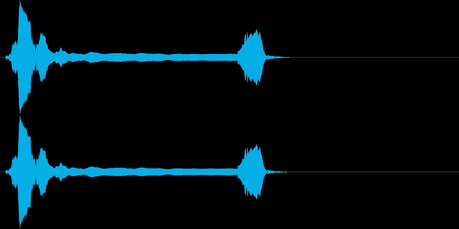 音侍SE「ピィーピッ」能管ひしぎ、短めの再生済みの波形