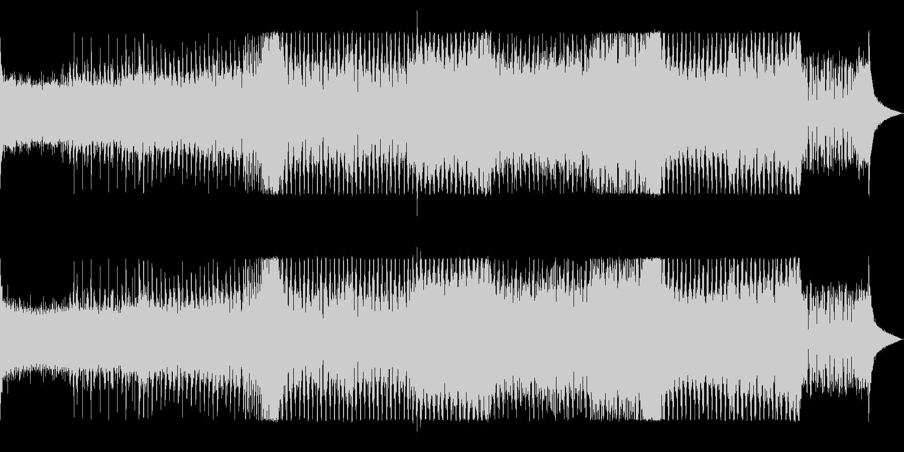 オープニングを盛り上げるエレクトロハウスの未再生の波形