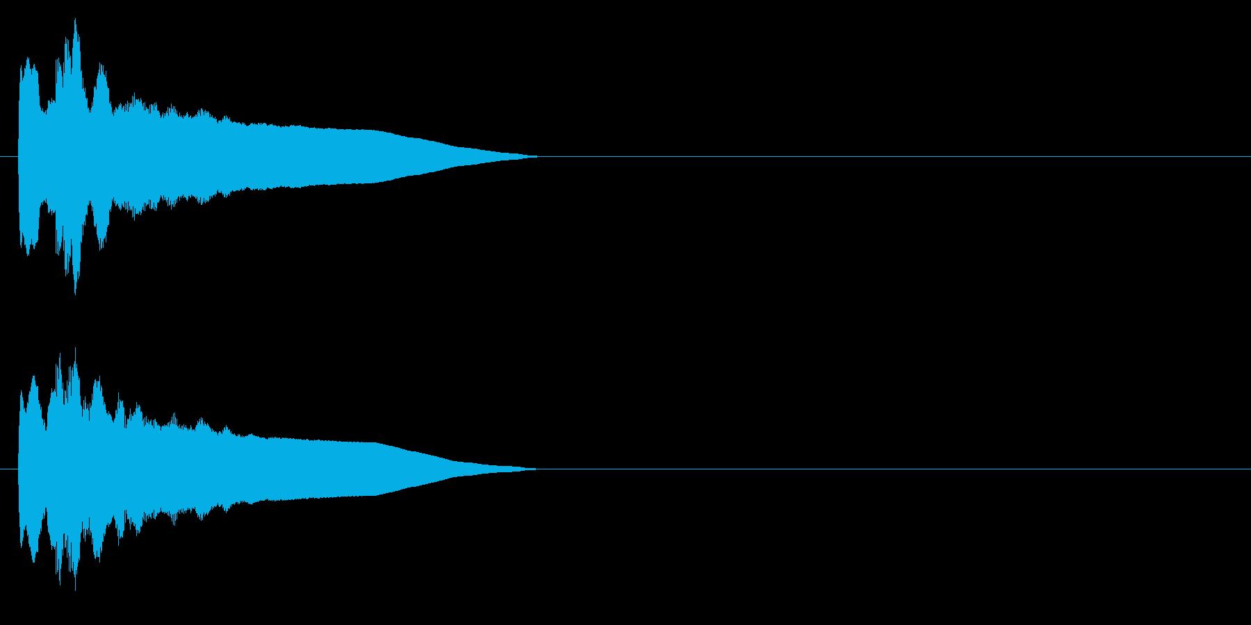 ピンポン系3 シンセの再生済みの波形