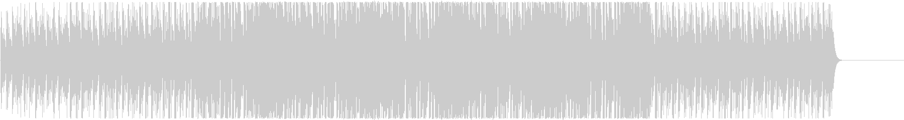 ゲームスタート前に最適な4つ打ちBGMの未再生の波形