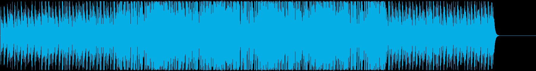 ゲームスタート前に最適な4つ打ちBGMの再生済みの波形