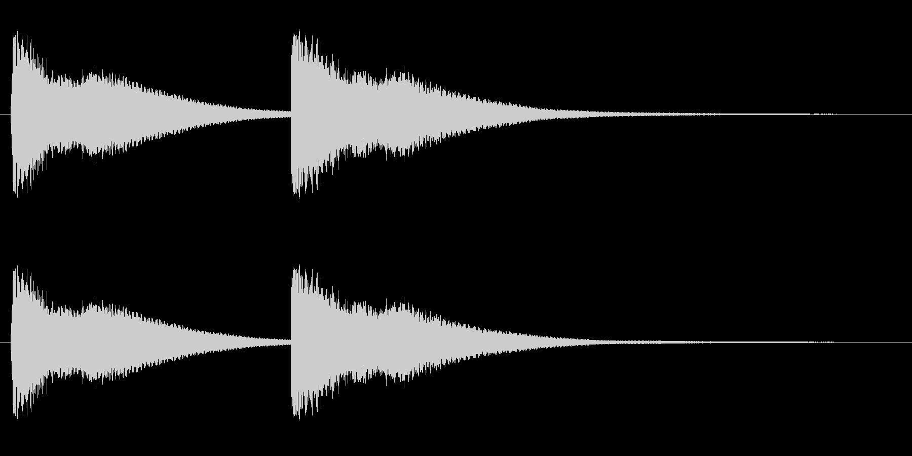 綺麗でハッキリ聴こえる効果音の未再生の波形